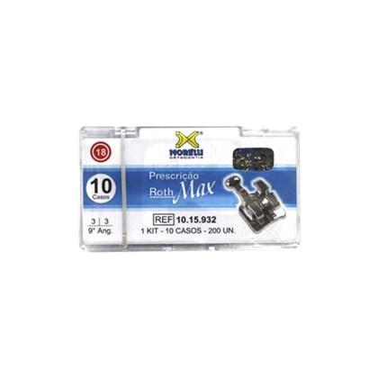 10.15.932 Kit de Braquetes Roth Max 9 Ang. c/ Gancho Slot 0.18 10 Casos Morelli
