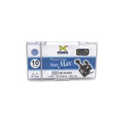 10.15.933 Kit de Braquetes Roth Max 9 Ang. c/ Gancho Slot 0.22 10 Casos Morelli