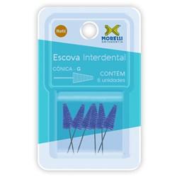 78.01.103 Escova Interdental Cônica Tam. G c/6 - Morelli