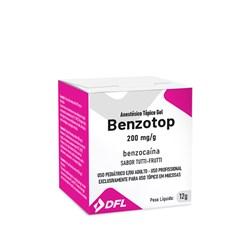 Anestesico Topico Pomada Benzotop Tutti-Frutti 12g Nova Dfl