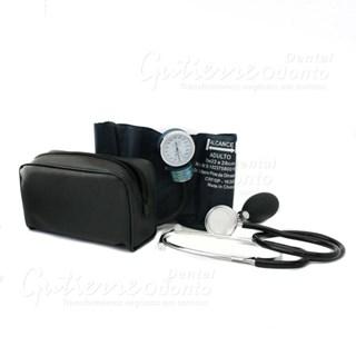Aparelho p/ Medir Pressão c/ Velcro + Estetoscópio Solidor