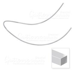 Arco Nitinol Curva Reversa Inferior Retangular 16x22 c/ 10 Abzil