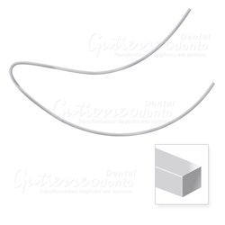 Arco Nitinol Curva Reversa Inferior Retangular 19x25 c/ 10 Abzil