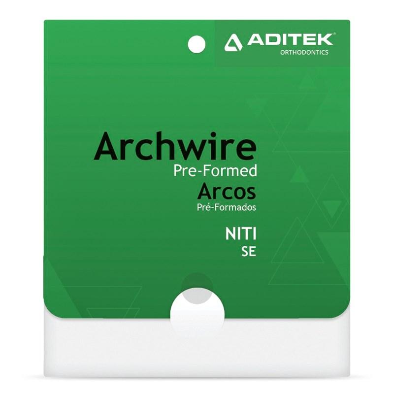 Arco NItinol Superelástico Natural Inferior c/10 - Aditek