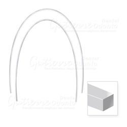 Arco Nitinol Termo Ativado Inferior Retangular 17x25 c/ 10 Abzil
