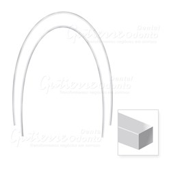 Arco Nitinol Termo Ativado Inferior Retangular 21x25 c/ 10 Abzil