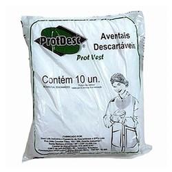 Avental Cirurgico Branco Tam Un Protvest Gr50 Pct Com 10 Protdesc