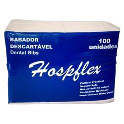 Babador Descartável Branco c/ 100 - Hospflex