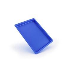 Bandeja Plastica Autoclavavel Azul 24 X 18 X 1,5 Maquira