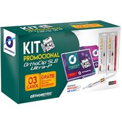 Br?quete Autoligado Ultra-P Roth 0.22 3 Casos Kit Promo CIOSP 10.46.2802 - Orthometric