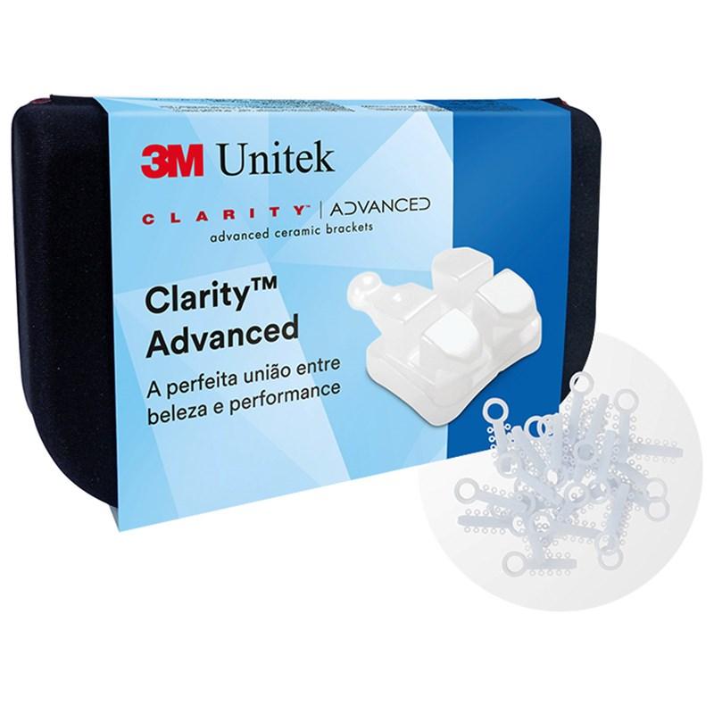 Bracket Clarity Advanced 0.22 1 Caso Grátis Elásticos Obscure - 3M