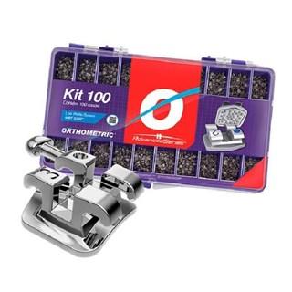 Braquete ADV Roth 0.22 C/100 Casos C/100 Tubos Kit Promo 10.10.2923 - Orthometric<br /> <br />