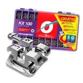 Braquete Advanced 0.22 Kit 100 Casos - Grátis Arco+Elástico - Orthometric