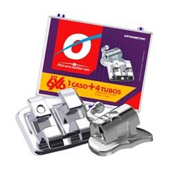 Bráquete Advanced Roth Slot 0.22 Kit com Tubos Orthometric