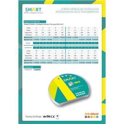 Braquete Autoligado Interativo Smart Roth 0.22 (21) C/5 - Orthomundi<br /> <br />