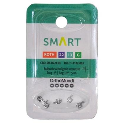 Braquete Autoligado Interativo Smart Roth 0.22 (31/32/41/42) C/5 - Orthomundi<br />
