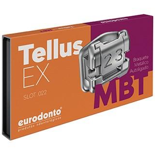 Bráquete Autoligado Tellus EX MBT Slot 0.22 1 Caso (7x7) - Eurodonto