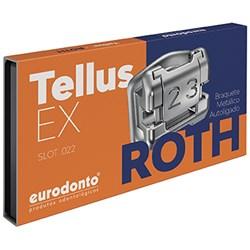 Bráquete Autoligado Tellus EX Roth Slot 0.22 1 Caso (7x7) - Eurodonto