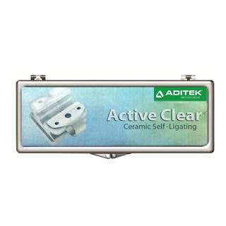 Bráquete Ceramico Autoligado Roth Active Clear 1 Caso Aditek
