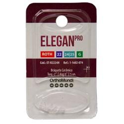 Braquete Cerâmico EleganPro Roth 0.22 (34) C/Gancho C/5 - Orthomundi<br /> <br />