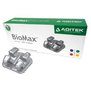 Bráquete Monobloco BioMax c/ Gancho Slot 0.22 Kit 100 Casos - Aditek