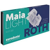 Bráquete Roth Cerâmico Maia Light c/ Gancho Canino Pré Molares Eurodonto