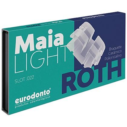 Bráquete Roth Cerâmico Maia Light c/ Gancho Canino Pré Molares - Eurodonto