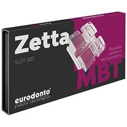 Bráquete Safira Mbt Zetta c/  Gancho Canino e Pre Molar 1 Caso Eurodonto