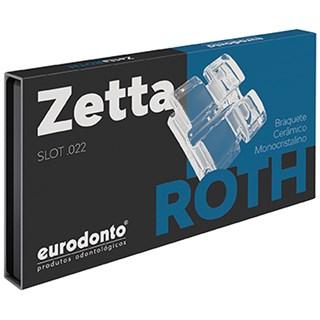 Bráquete Safira Roth Zetta c/ Gancho Canino e Pré Molar 1 Caso - Eurodonto