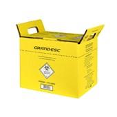 Coletor de Material Perfurocortante 1,5 Litros - Amarelo