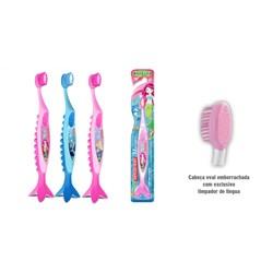 Escova Dental Macia Infantil Princesas Do Mar Modelos Sortidos Dentalclean