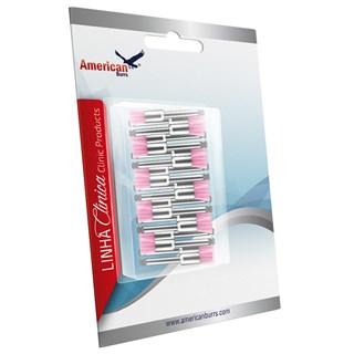 Escova Robson Ultra-Soft Color-Brush Rosa Tipo Pincel c/20 - American Burrs