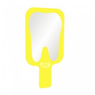 Espelho Toucador Com Cabo Amarelo Agir