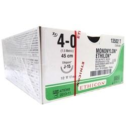 Fio de Sutura Ethicon Mononylon 4-0 - 1,7cm