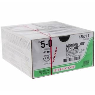 Fio de Sutura Ethicon Mononylon 5-0 c/ 24 17mm - Johnson & Johnson