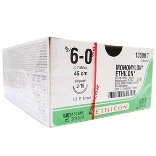 Fio de Sutura Ethicon Mononylon 6-0 c/ 24 17mm - Johnson & Johnson