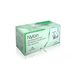 Fio de Sutura Nylon 3-0 c/ 24 1,5 Cm 1/2 Agulha Technofio