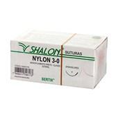 Fio de Sutura Nylon 3-0 c/ 24 2,0 Cm Shalon