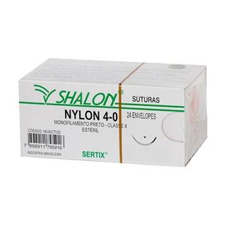 Fio de Sutura Nylon 4-0 c/ 24 2,0 Cm Shalon