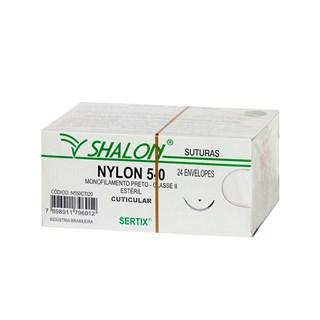Fio de Sutura Nylon 5-0 c/ 24 1,5 Cm Shalon