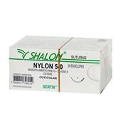 Fio de Sutura Nylon 5-0 c/ 24 2,0 Cm Shalon
