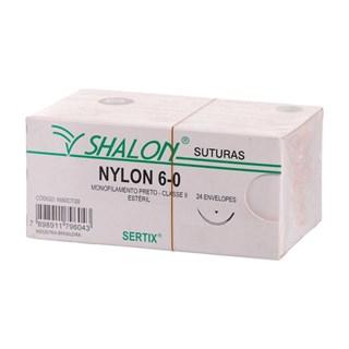 Fio de Sutura Nylon 6-0 c/ 24 1,5 Cm Shalon