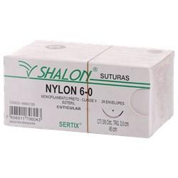 FIO DE SUTURA NYLON 6-0 C/24 2,0 CM SHALON