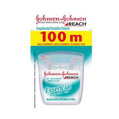 Fio Dental 100m Menta Essencial Johnson e Johnson