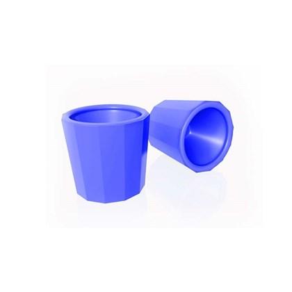 Frasco Dappen Plastico Nyllon Azul Maquira
