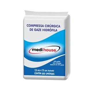 Gaze 11 Fios Não Estéril c/500 7,5x7,5 - Medi House