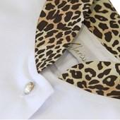 Jaleco Feminino Branco - Gola Padre Onça