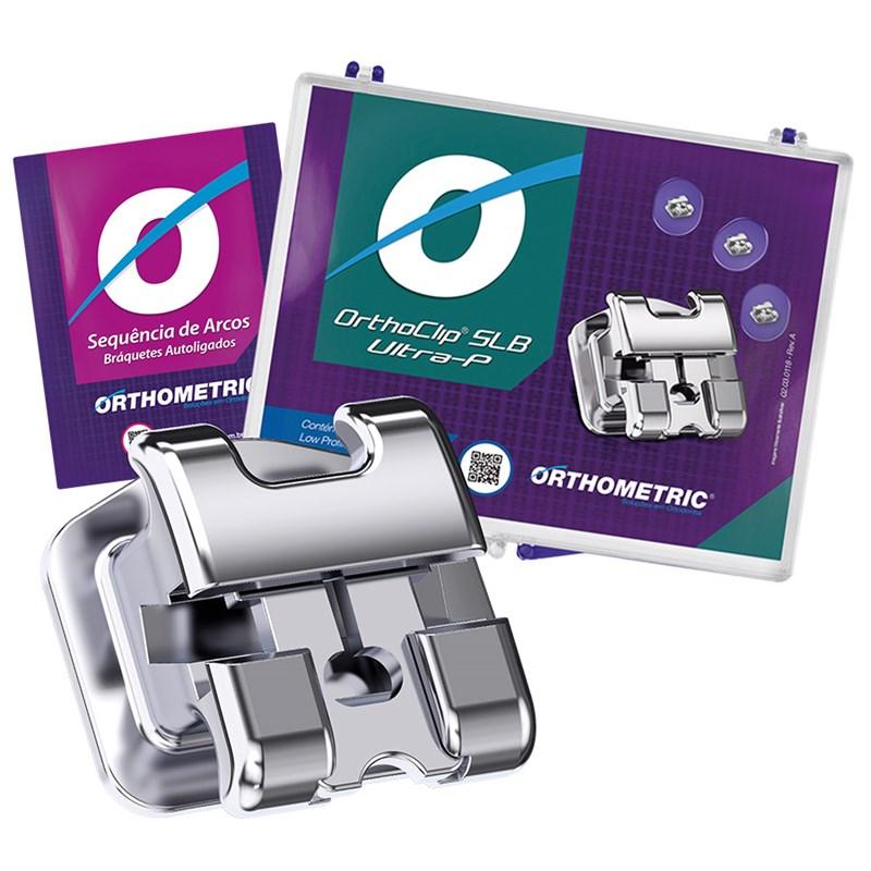 Kit Bráquete Autoligado Orthoclip SLB Ultra-P + Sequência de Arcos - Orthometric