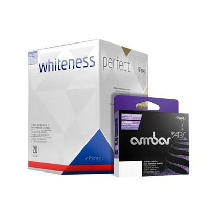 Kit Clareador Whiteness Perfect 22 Adesivo Ambar Aps Dental