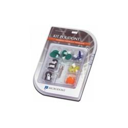Kit Disco de Lixa Introdutorio c/ 28 Pecas+Mandril Sortido Polidont Microdont